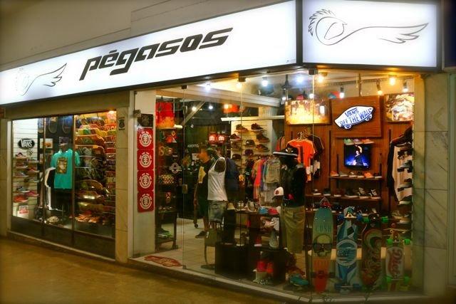 PÉGASOS SKATE SHOP Shopping Rio Branco - Loja 33. Av. Barão do Rio Branco f6c2fd58c72