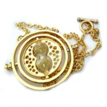 Colar Harry Potter - Time Turner (Vira Tempo) com ampulheta