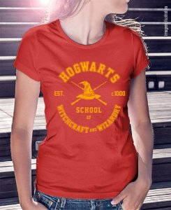 Camiseta Harry Potter - Hogwarts School Amarela