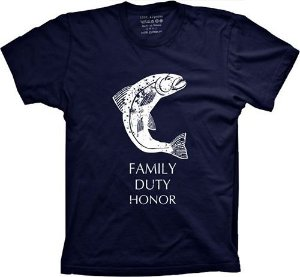 Camiseta Guerra dos Tronos - Tully - Family, Duty, Honor (ou moleton)