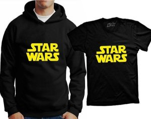 Camiseta Star Wars - logo (ou moleton)
