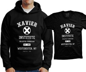 Camiseta X-Men - Xavier Institute (ou moleton)