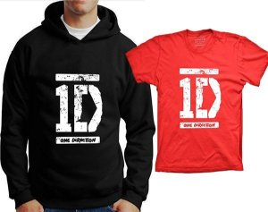 Camiseta One Direction - Logo (ou moleton)