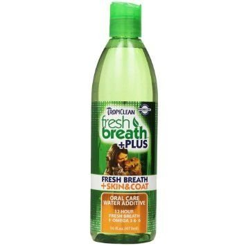 TropiClean Fresh Breath Plus Skin & Coat Oral Care Water Additive for Pets 473 ml