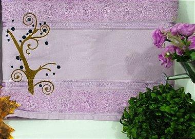 Toalha de Banho com Floral mais Nome