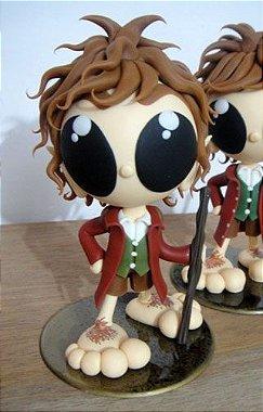 Bilbo Baggins - O Hobbit - Senhor dos Anéis - Miniatura