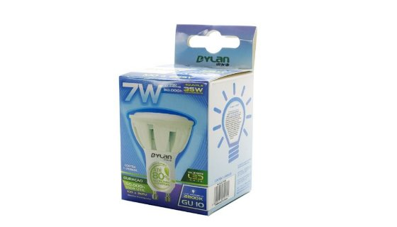 Lâmpada LED Dicróica 7W - 490lm - Base GU10 (Bivolt)
