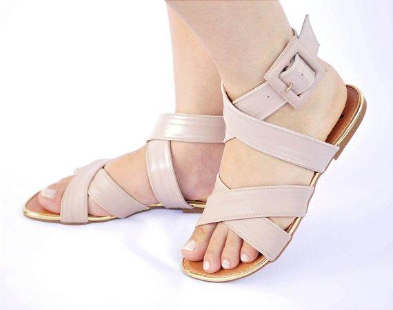 155e6f6b27 Sandália Rasteira Pele Nude - Anny Shoes