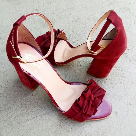 75a526a5f8 Sandália Marsala Salto Grosso - Anny Shoes