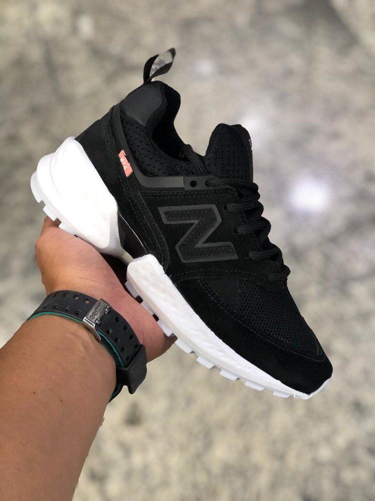 new balance 574 preto e rosa