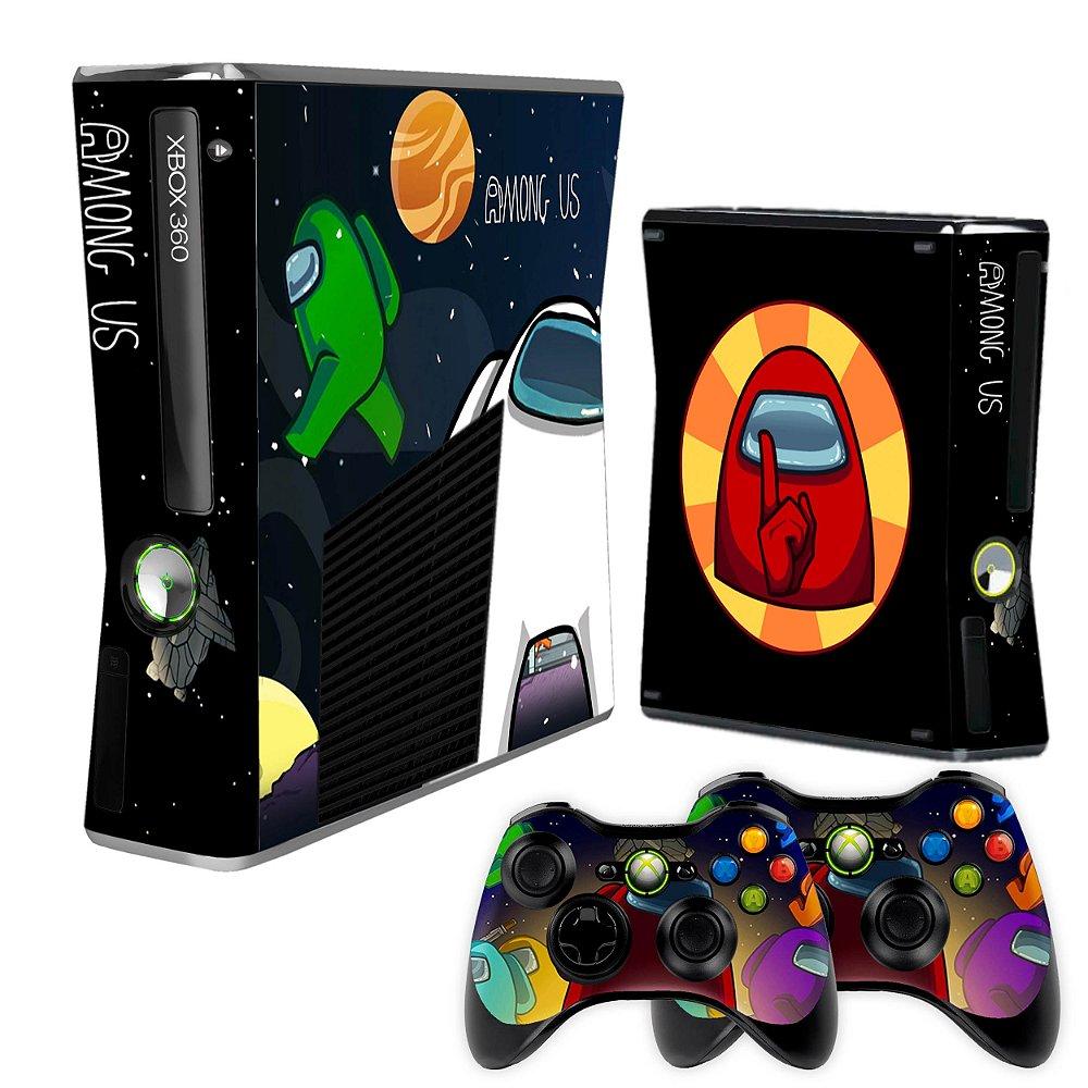 Skin Xbox 360 Slim Among Us 215 Tf Arts Adesivos Personalizados
