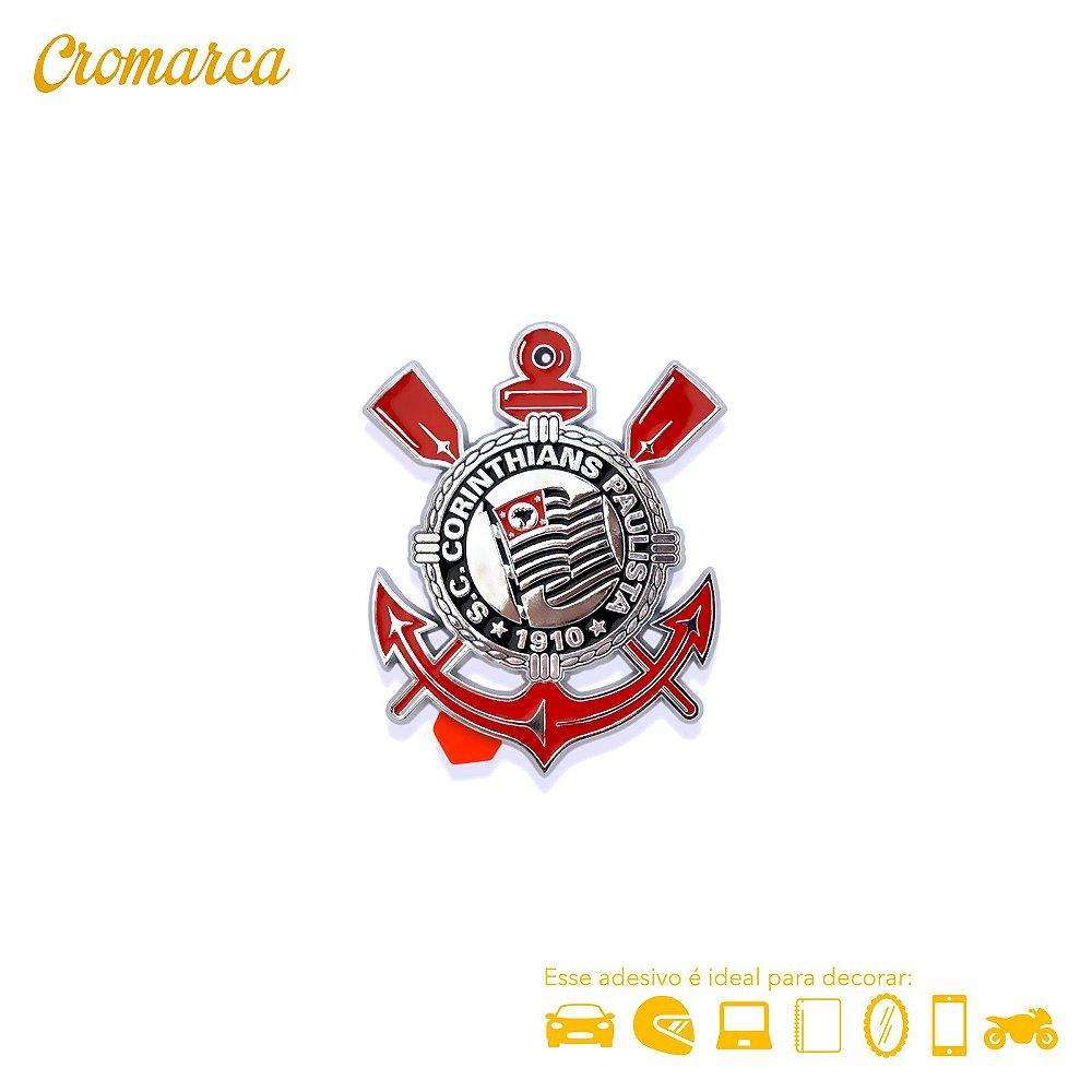 Adesivo CROMADO - Escudo Oficial Corinthians - Cromarca Store a5539796edded
