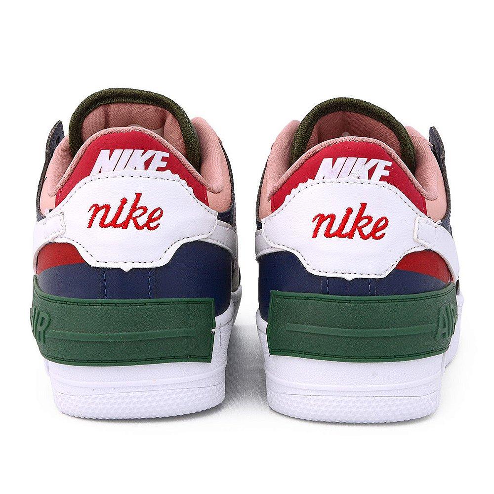 Nike Air Force Shadow Branco Rosa - No pé calçados