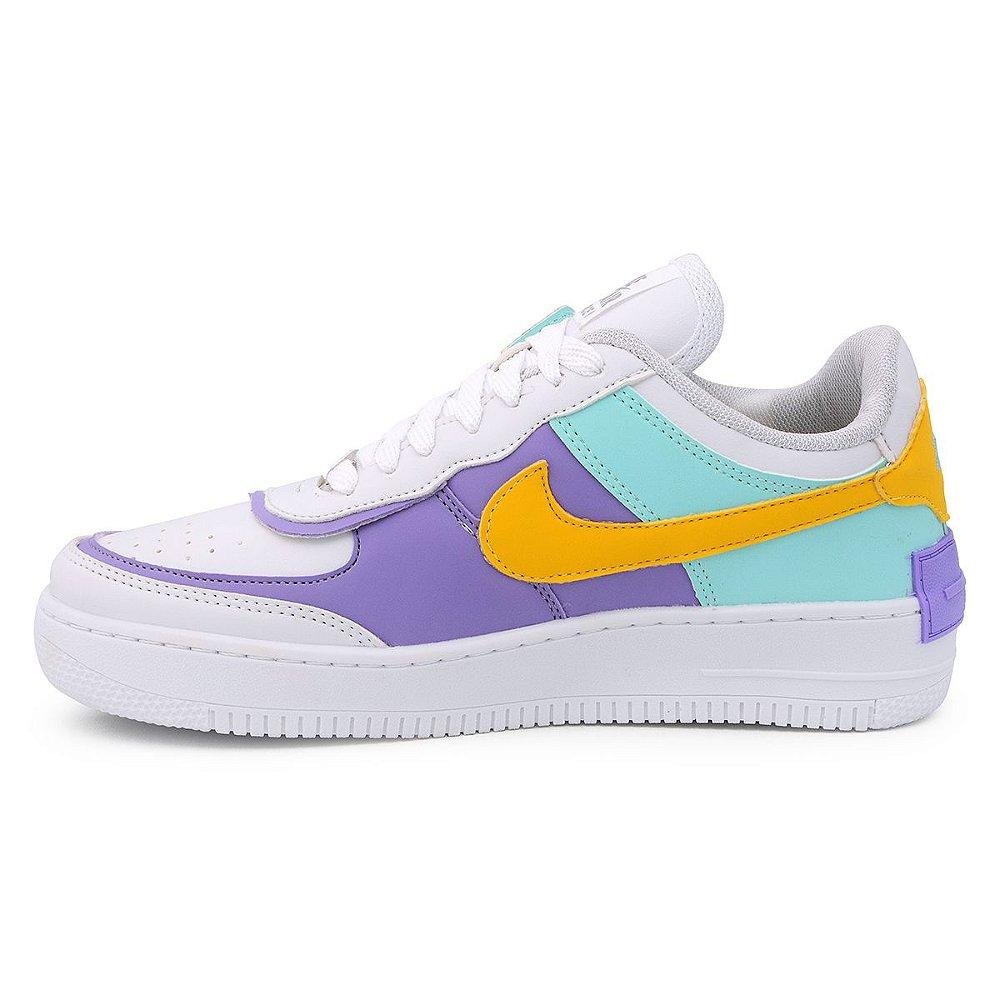 Nike Air Force Shadow Branco Lilás - Loja no pé. Os