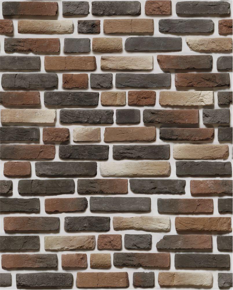 Papel de parede com tijolos escuros renovando em um clique - Papel autoadhesivo para paredes ...