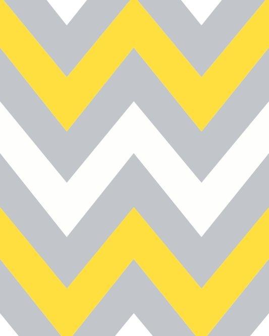 Papel de parede chevron amarelo e cinza renovando em um for Papel de pared argentina