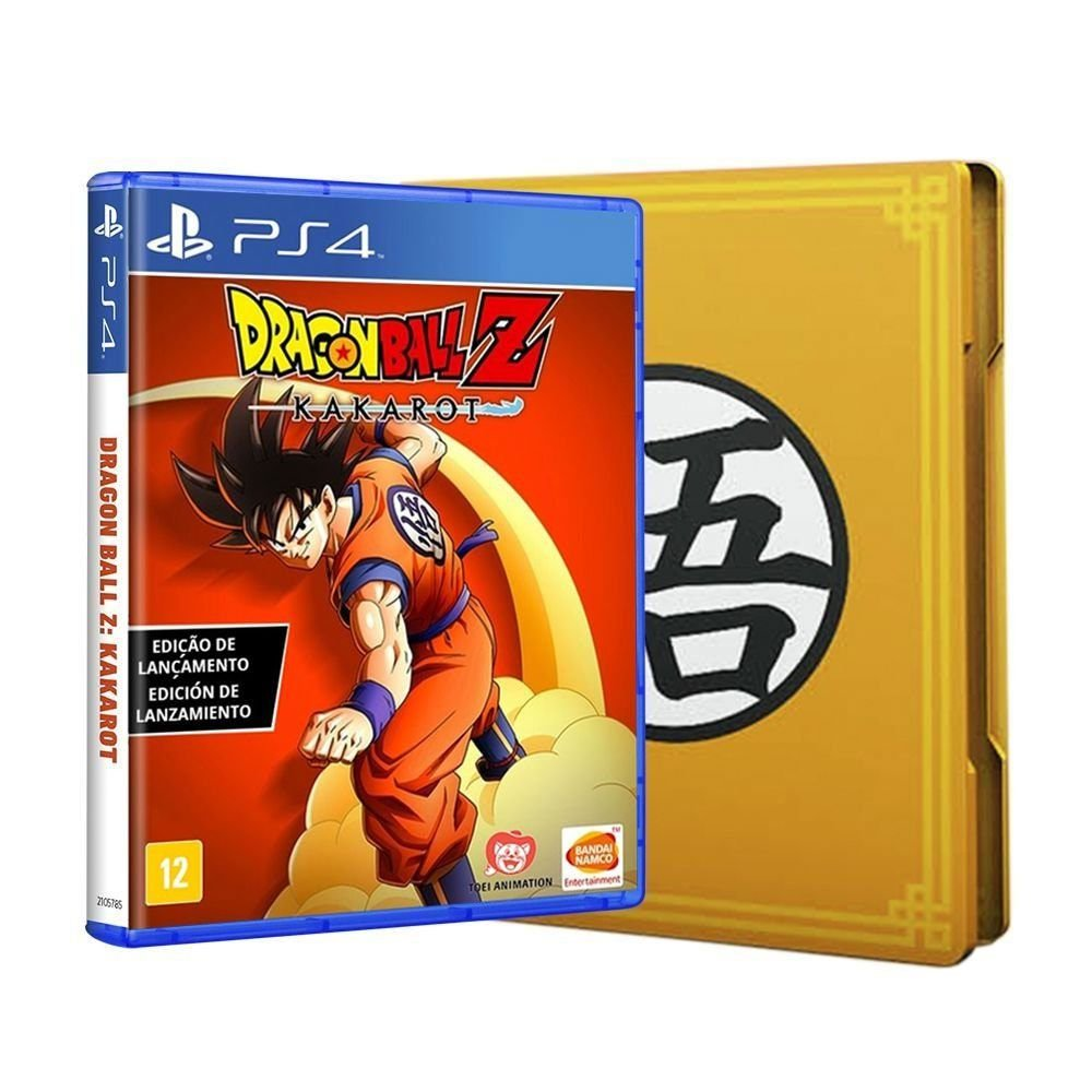 Jogo Dragon Ball Kakarot Edição Steelbook - Playstation 4 - Bandai Namco Games