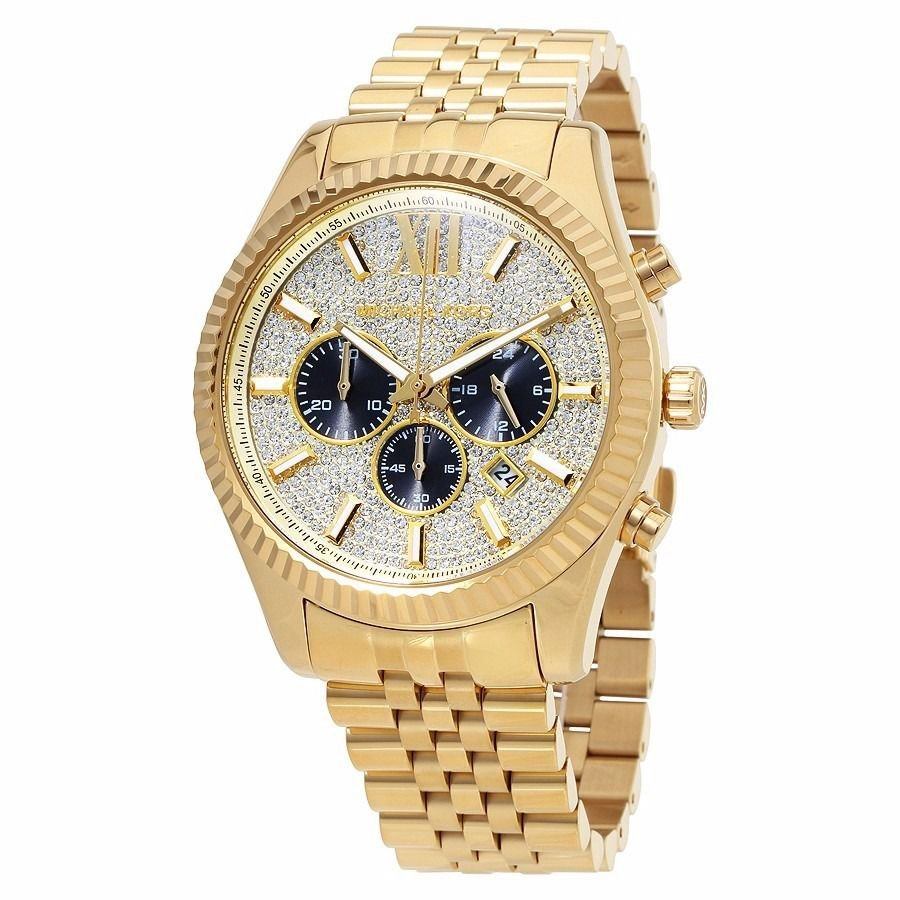 a9c5d89b69a7f Relógio Feminino Michael Kors MK8494 Dourado Strass - Mimports ...