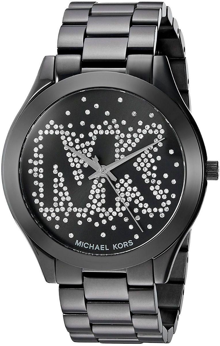 688a288079ae3 Relógio Feminino Michael Kors Mk3589 Preto Slim - Mimports ...