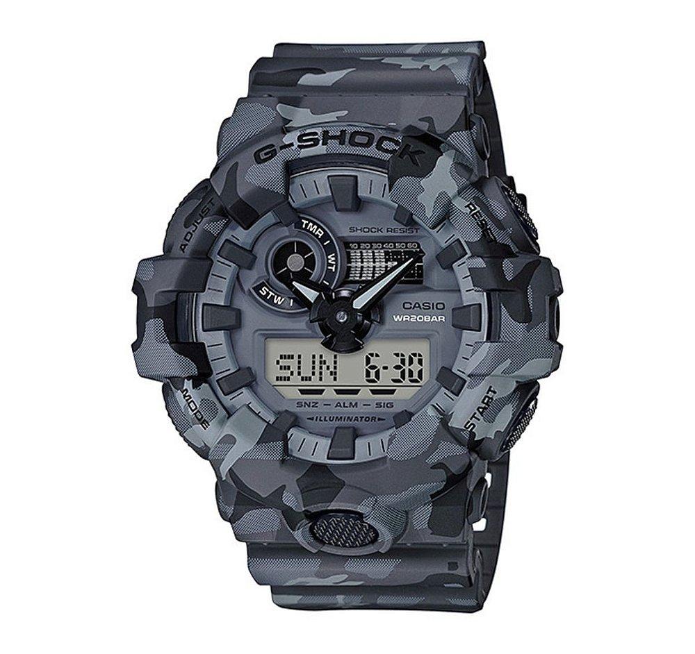 293a61a4dcf Relógio Masculino Casio G-SHOCK GA-700CM-8ADR Cinza - Mimports ...