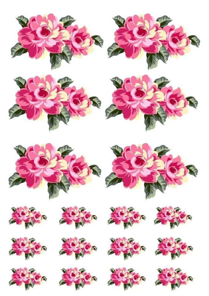 Estampa Flores Para Recorte A4 Papel Arroz Especial