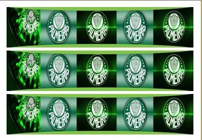 Palmeiras Faixa Lateral 001 A4 Papel Arroz Especial