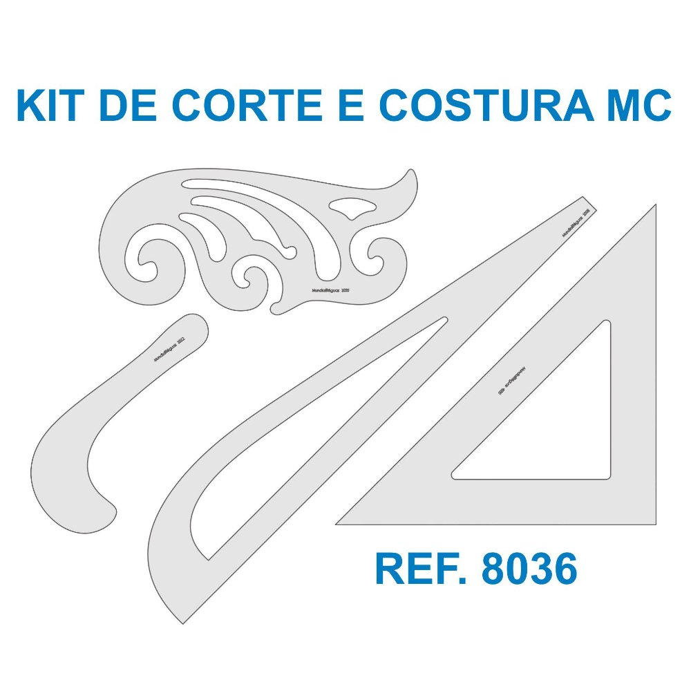 Kit de Réguas para Corte e Costura MC