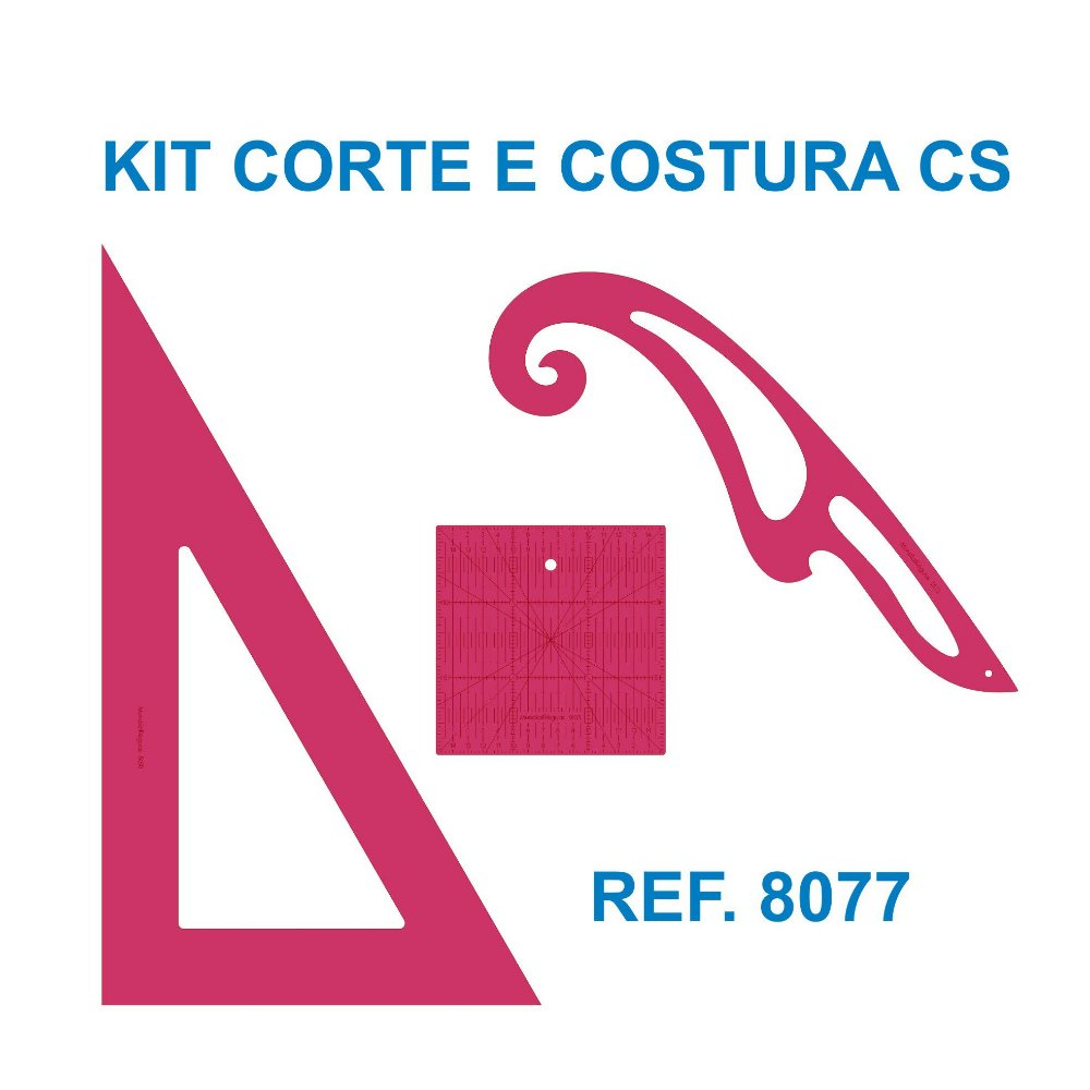 Kit de Réguas para Corte e Costura CS