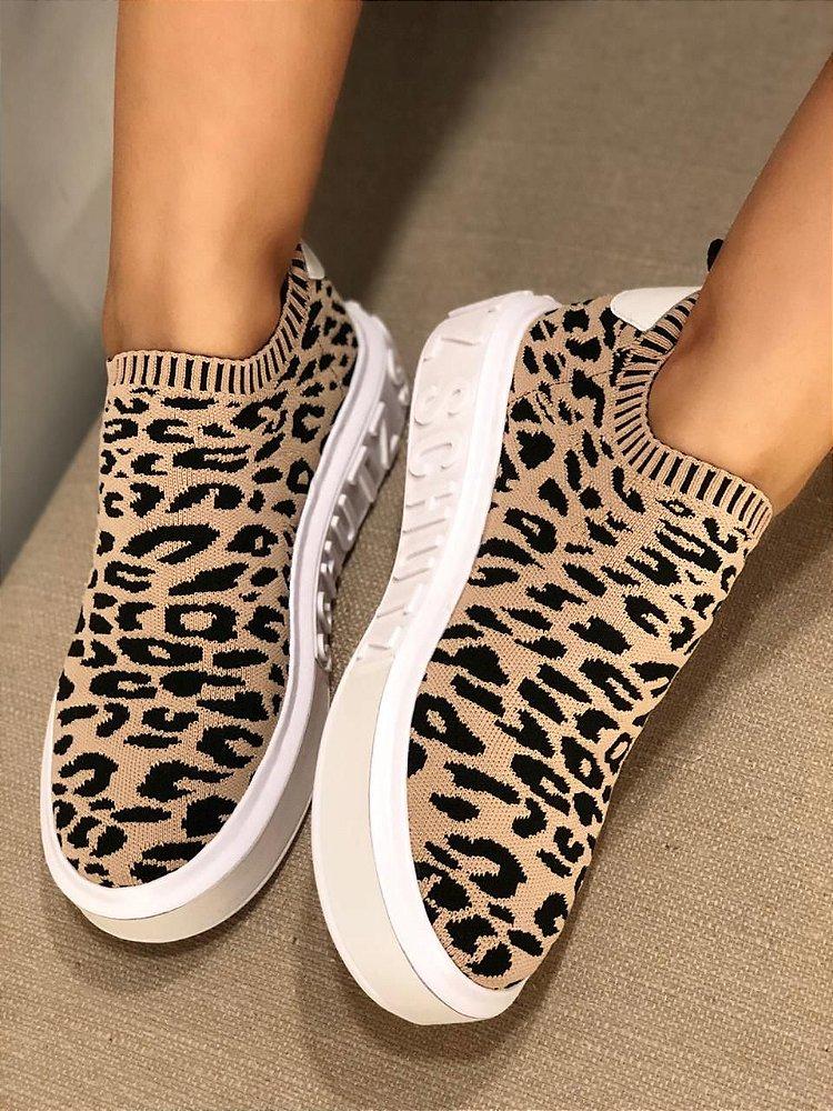 Tendências de sapatos femininos Animal Print