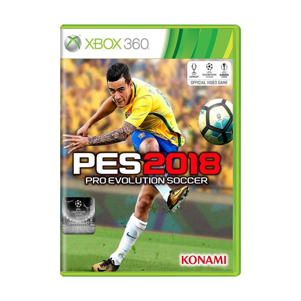 ff6452ad41 Jogo Pro Evolution Soccer 2018 (PES 18) - Xbox 360 - MeuGameUsado