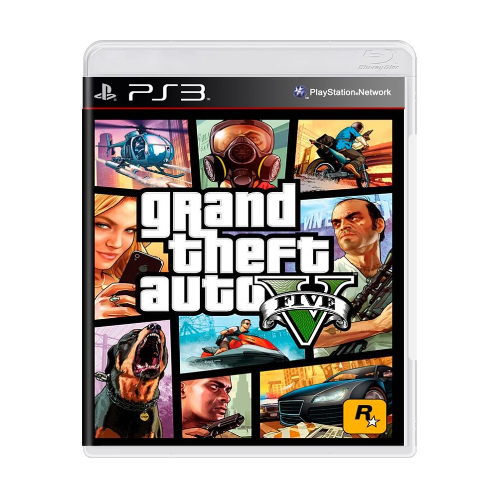Gta Grand Theft Auto V 5 Ps3: Jogo Grand Theft Auto V (GTA 5)