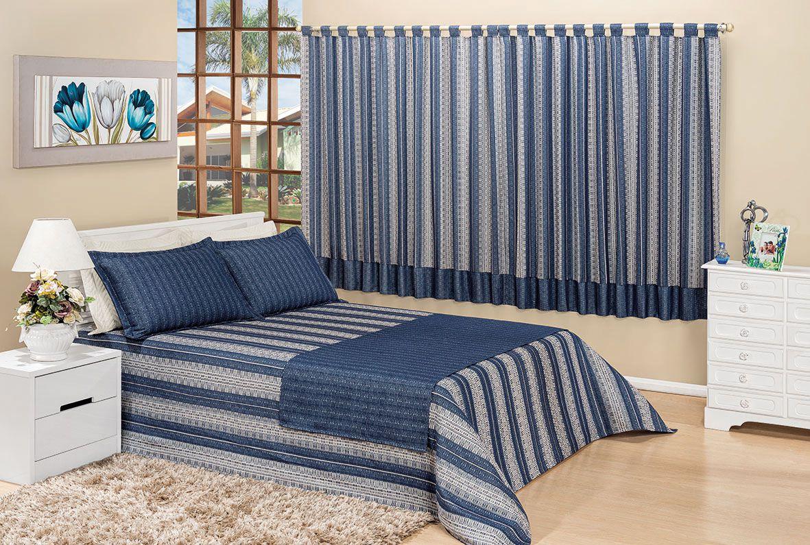 Kit enxoval paris 07 pe as cobre leito queen com cortina - Cortinas para cama ...