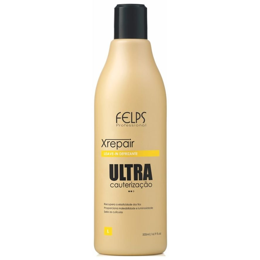 f17598f3b7 Felps Xrepair Ultra Cauterização Leave-In Defrizante 500ml