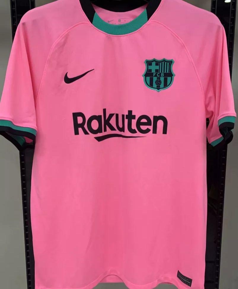 Camisa Barcelona Iii 20 21 Nike Masculina Rosa E Preto R7 Store