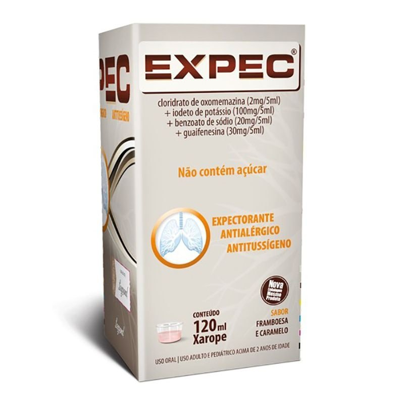 Expec Xarope 120mL   Drogaria Itafarma - Cuidar de você
