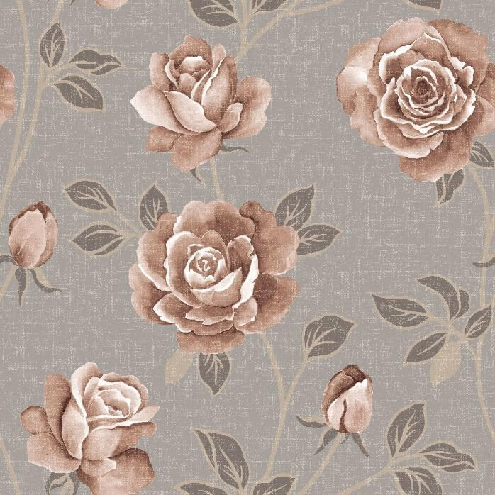 Papel-de-Parede-Floral-em-tons-de-Bege-e-Marrom