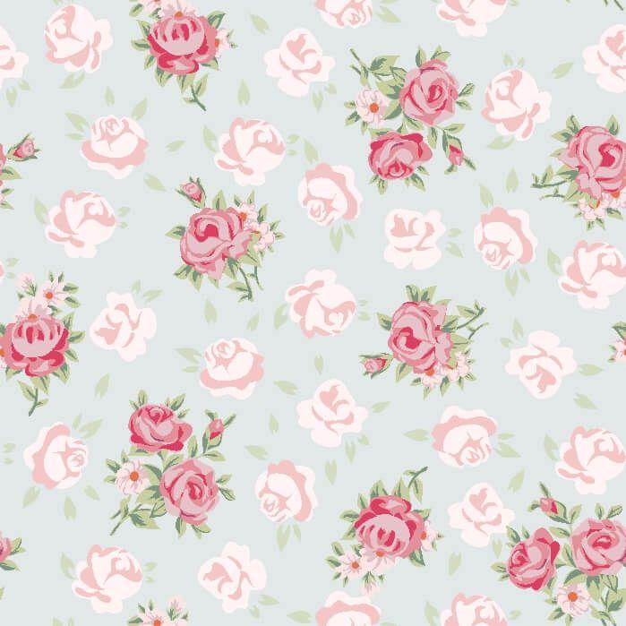 Papel de Parede Floral Romantico