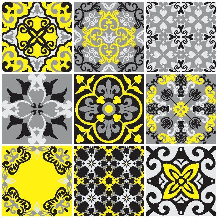 Adesivo-de-Azulejo-Hidraulico-Cinza-Preto-e-Amarelo