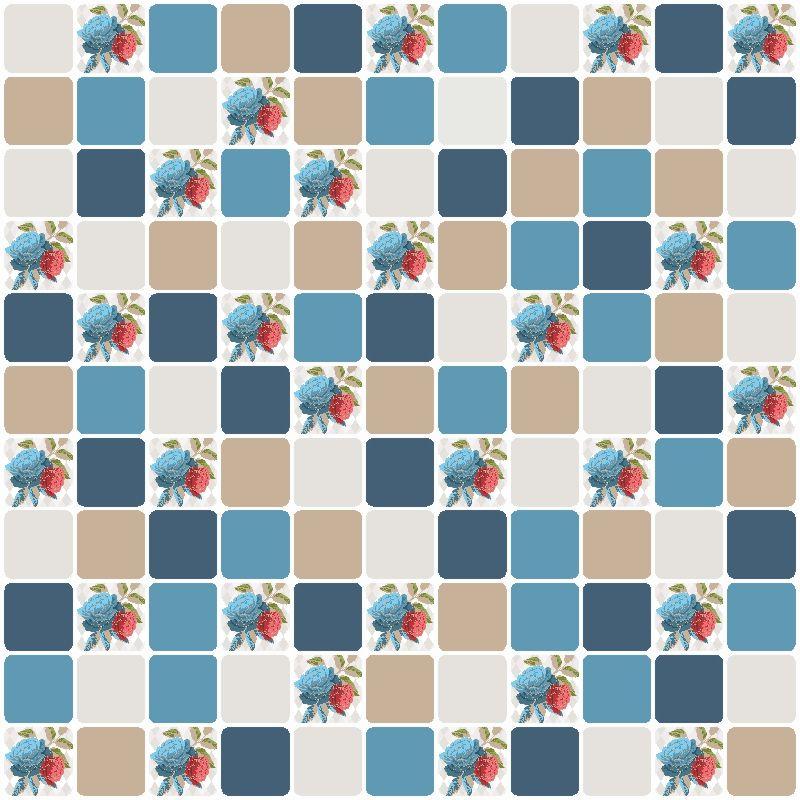 Papel-de-Parede-Pastilhas-Bege-e-Azul