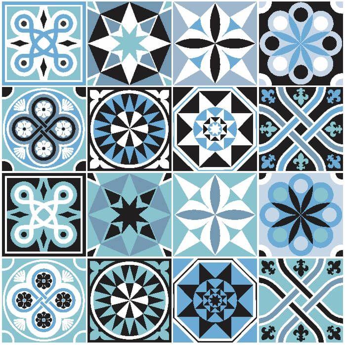 Adesivo-de-Azulejo-Hidraulico-em-Tons-de-Azul-e-Preto