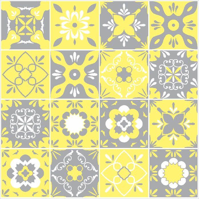Adesivo-de-Azulejo-Hidraulico-Cinza-e-Amarelo