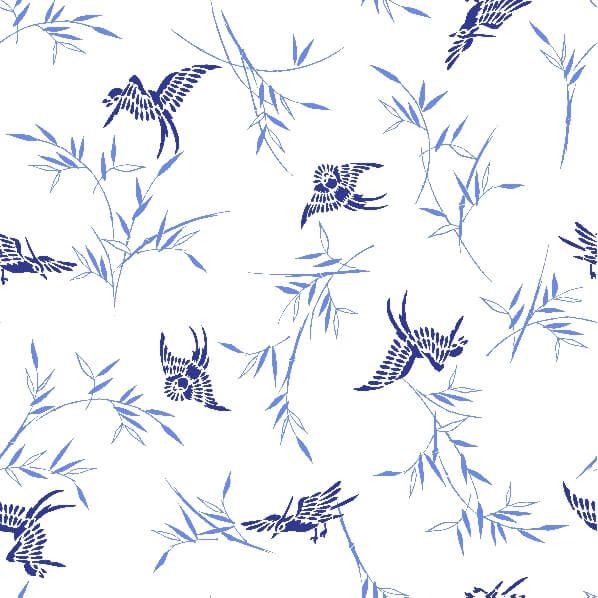 papel-de-parede-passaros-azul-floral