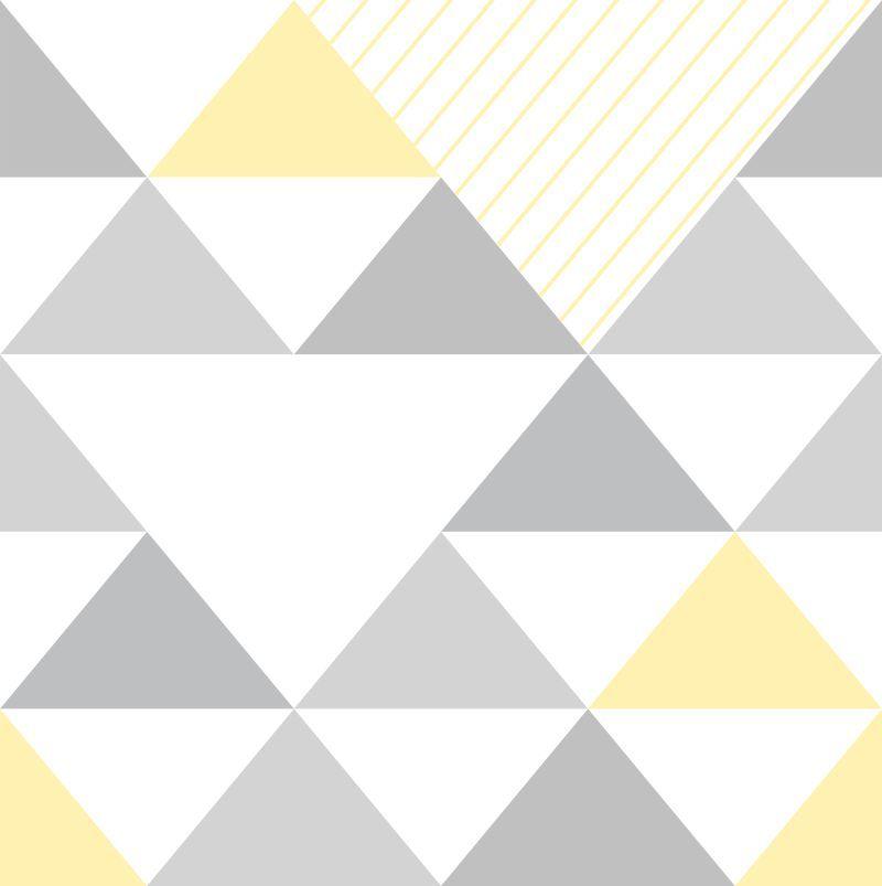 Papel-de-Parede-Geometrico-Triangulos-Cinza-e-Amarelo
