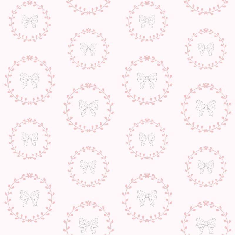 Papel-de-Parede-Infantil-Lacinhos