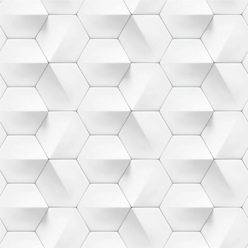 papel-de-Parede-Geometrico-3D-Hexagonal