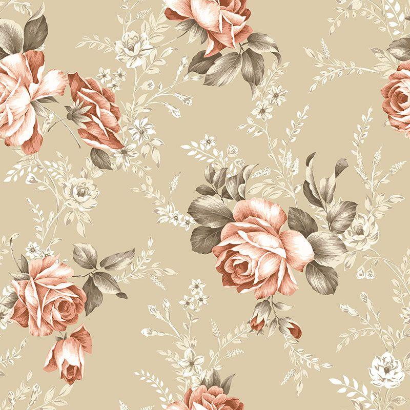 Papel-de-Parede-Floral-Envelhecido-fundo-Bege