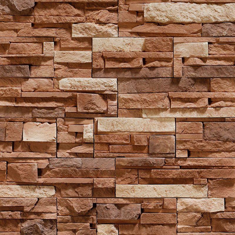 Papel de Parede Pedras em Tons de Marrom
