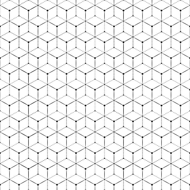 Papel-de-Parede-Geometrico-3D-Retro