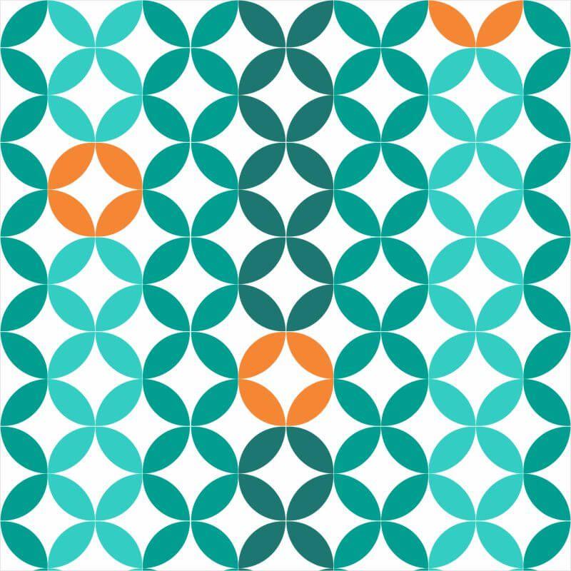 Papel-de-Parede-Geometrico-Verde-e-Laranja