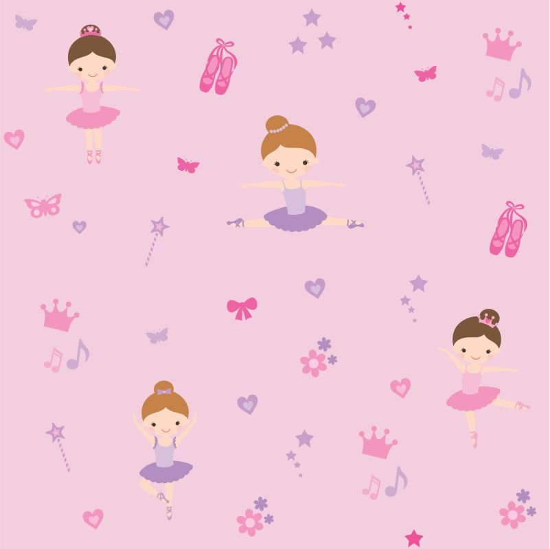 Papel-de-Parede-Baby-Bailarinas-Encantadas